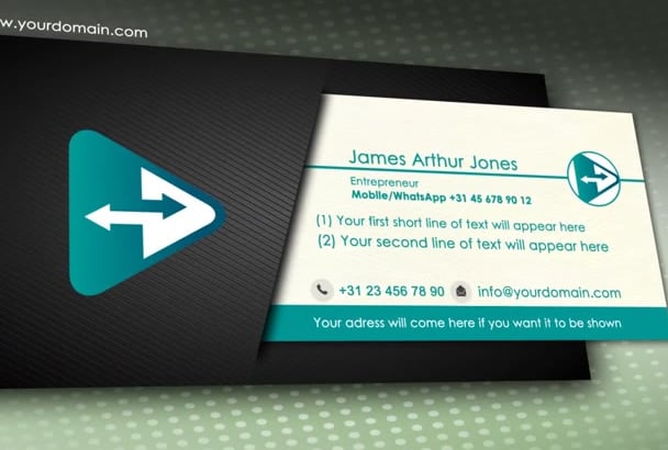 create a video business card phone 2 phone with whatsapp - Mobile Business Card