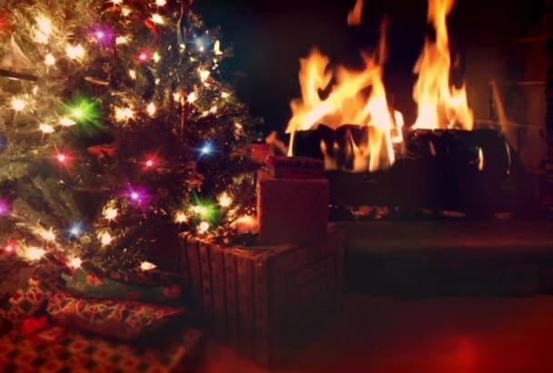 create a festive Christmas video