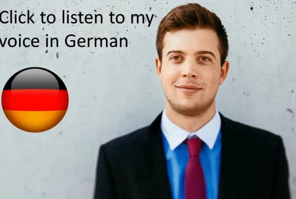 translate and record a German voiceover