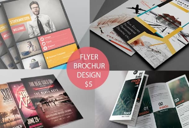 awesome flyer and Brochure design 24 hrs