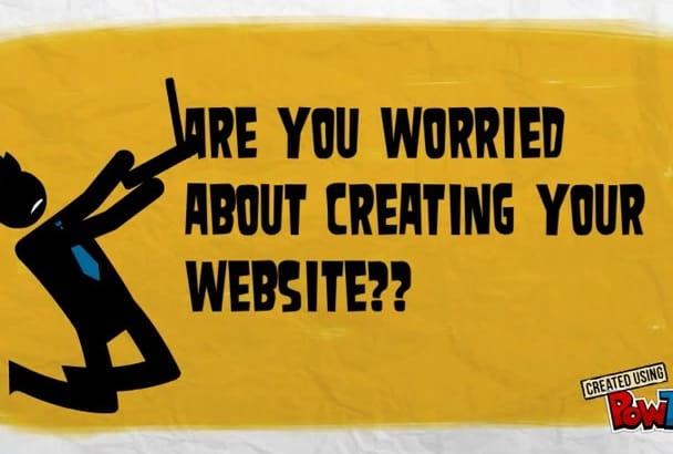 create wordpress website and customize wordpress website