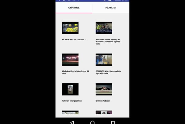 create YouTube channel application