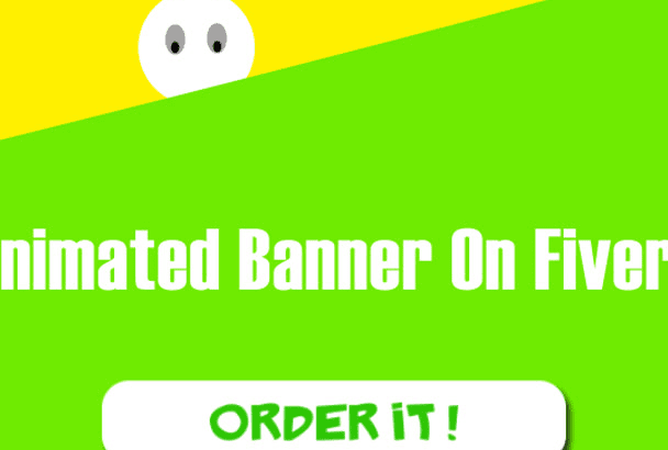 do Stunning Ad banner in Gif formate