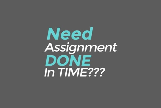 provide your academic assignment professionally