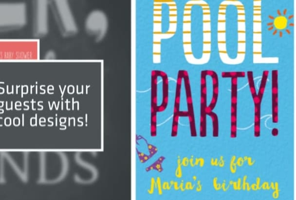 create an invitation or flyer
