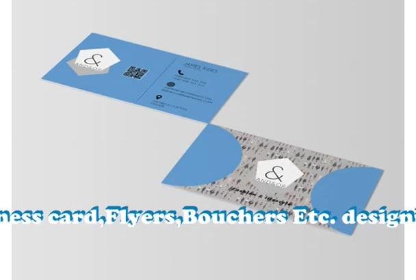 design Business card,flyer,posters bouchers