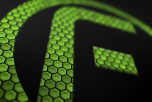 create a digital logo intro