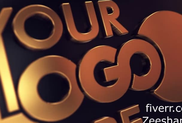 make your logo Gold and silver 3d intro video in HD