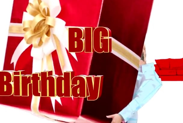 personalize this Big, Fun, Musical BIRTHDAY Video Greeting for some one you know