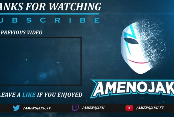 do custom animated outro for youtube or twitch