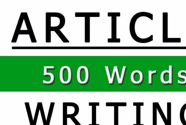 research and write an article of 500 words