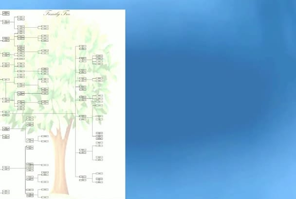 create an unique family tree chart
