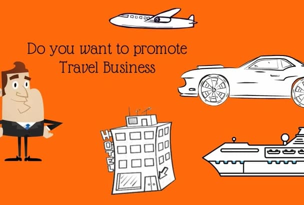 create a Travel Agency promo