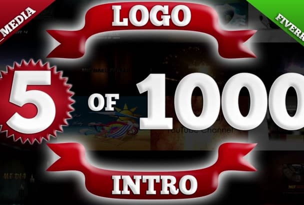 make 5 LOGO intro from 1000