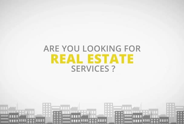 make a amazing real estate promo video