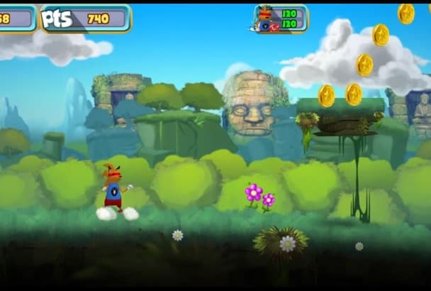 give you Nice 2D Adventure Unity Game