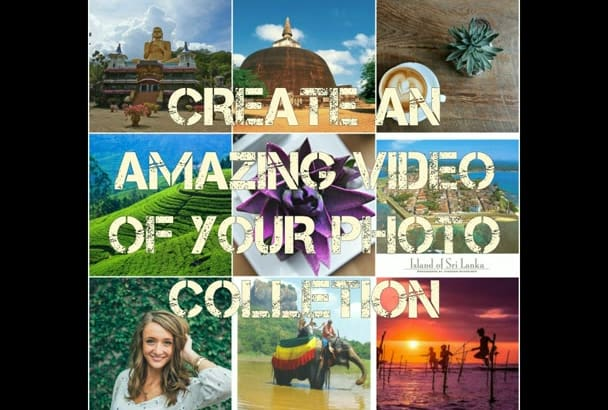 create an amazing video of your photos collection