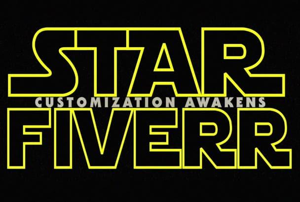 create custom Star Wars Force Awakens Title Intro