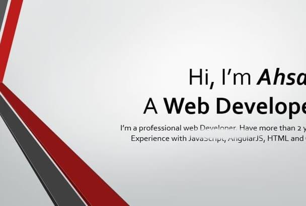 fix angularjs, JavaScript, Css3, HTML5 bugs