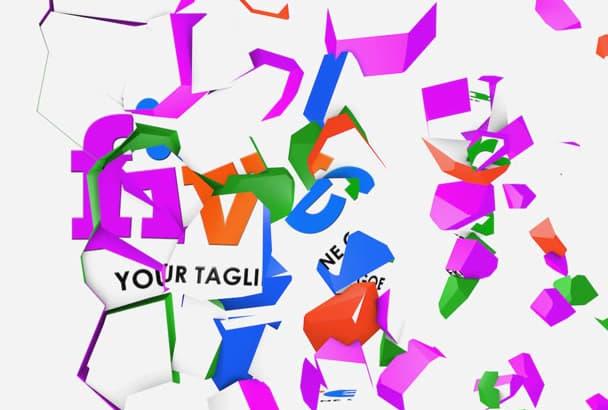 make pieces video intro logo animation