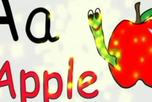 create a video for English Alphabet for nursery children
