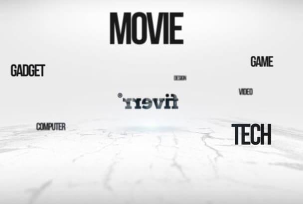 create UNIQUE turning logo video intro
