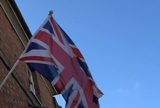 send you Slow Motion British Flag footage intro