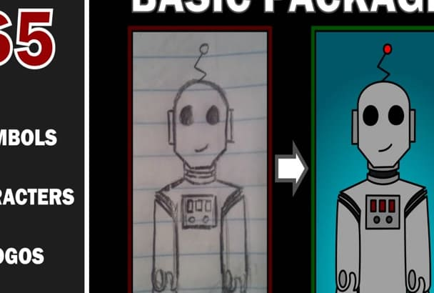 vectorize your sketches and raster images