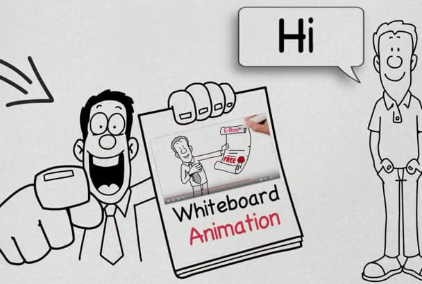 create an awesome WHITEBOARD animation in 24hrs
