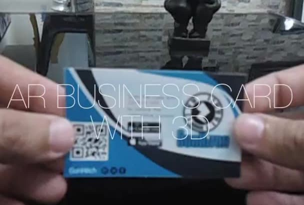 design your augmented Reality Business Card with 3D