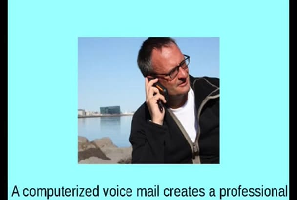 provide a custom computerized voice mail in a American female voice
