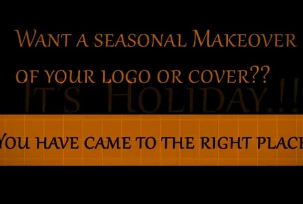 give your logo Valentines or  any seasonal makeover