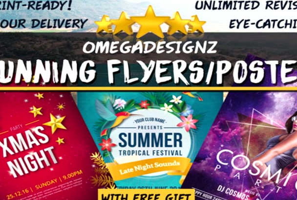 design 2 Eye Catching FLYERS or Posters In 24 Hours
