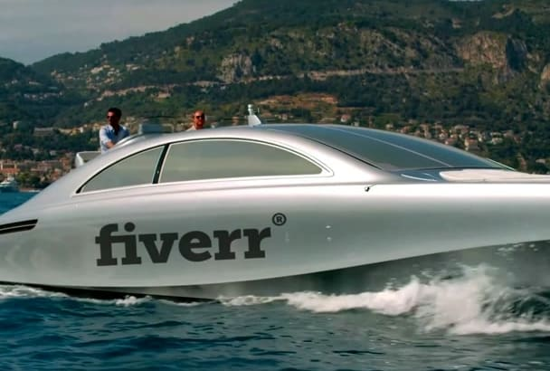 place your logo on a LUXURY Yacht Video