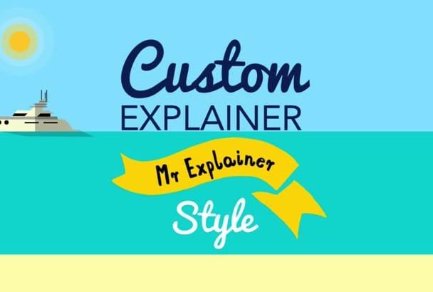 create a custom explainer video in Mr Explainer Style