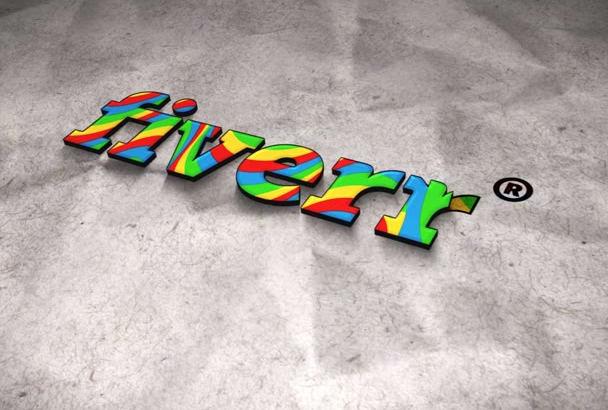 make you a colorful logo intro