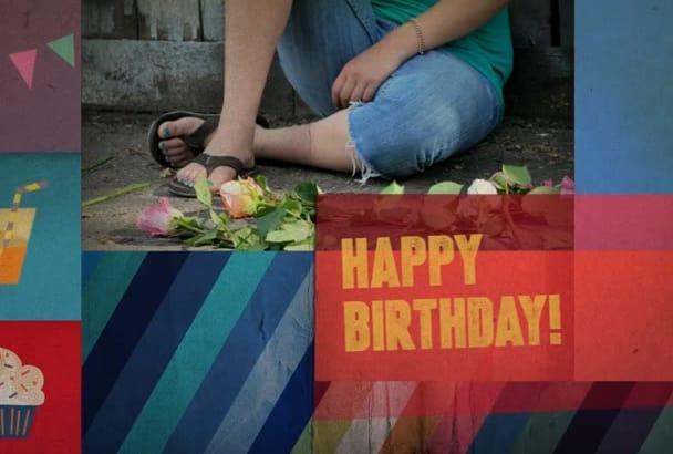 create birthday videos slideshow