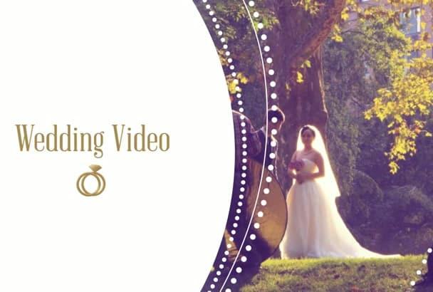 create wedding video slideshow