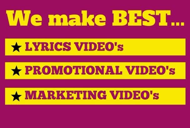 create custom KINETIC typography video