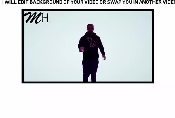 edit and remove background of your video