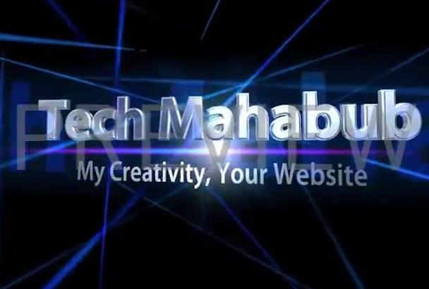 create a website on psd