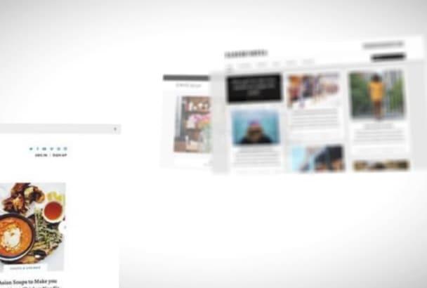 make new wordpress blog website