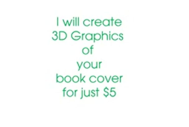 create a 3D book cover graphic
