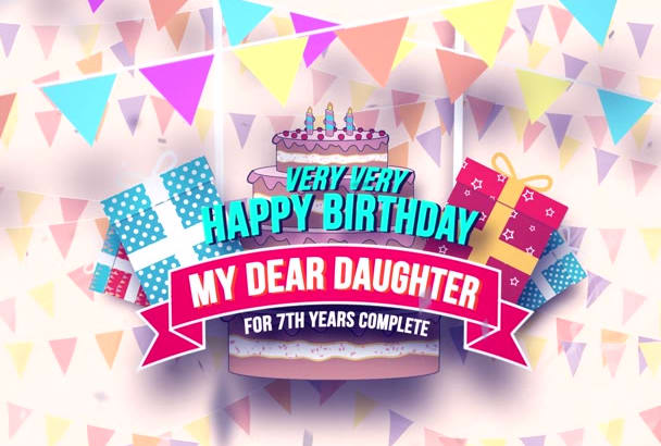 give happy birthday greeting video