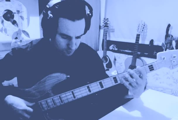 be your  bass player   for your song or project