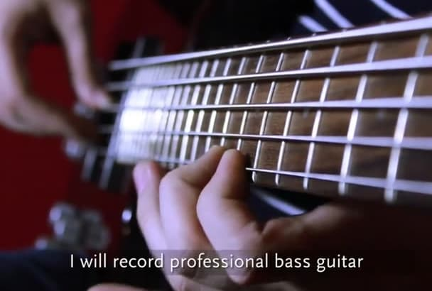 record professional bass guitar