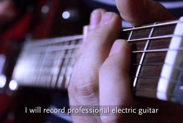 record professional electric guitar
