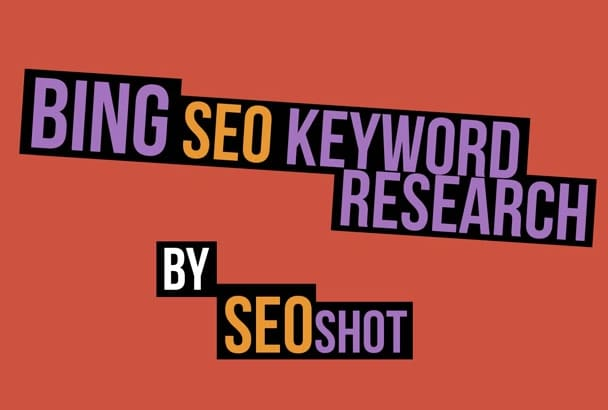 do Bing Seo Keyword Research