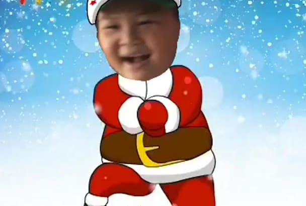 make you a video Santa with your face dances gangnam style