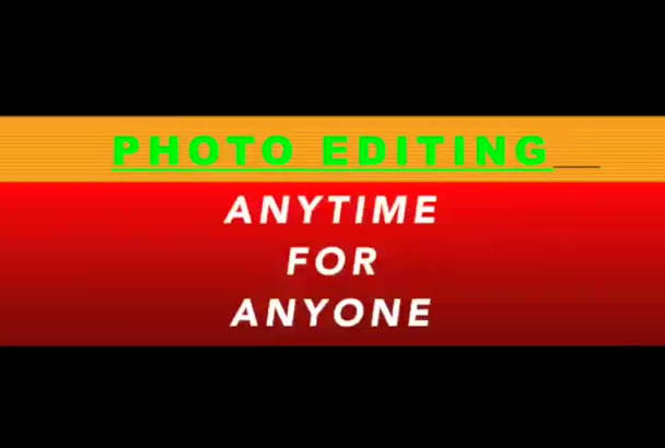 do any type of photo editing